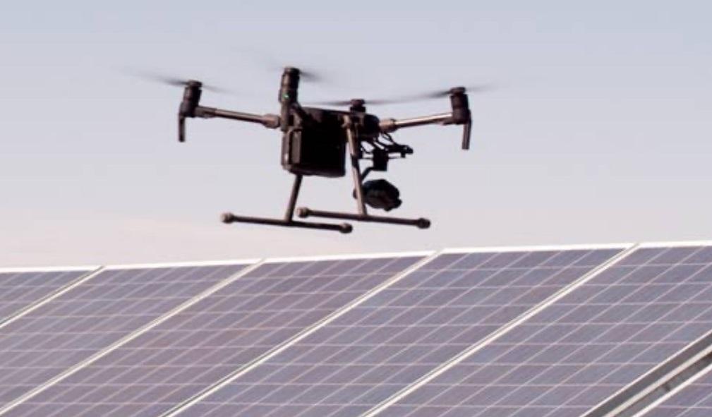 Inspeccion paneles solares Drone DJI